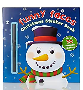 Funny Face Christmas Sticker Book