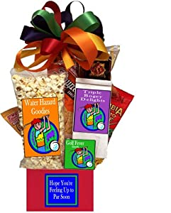 Golfer's Get Well Golf Gift Basket from Great Themes Galore