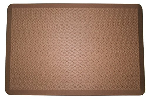 ComfortElite Anti Fatigue Mat - Brown | 24 x 36 x 3/4 inch | Engineered in USA Specifically For Long Time Standing Comfort | Luxury Floor Mat for Office Standup Desk, Kitchen (Floor Register Dark Wood compare prices)