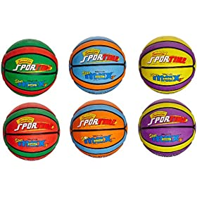 Sportime SportimeMax Star Basketballs - Junior Size - 27.5 Inch - Set of 6 Colors by Sportime