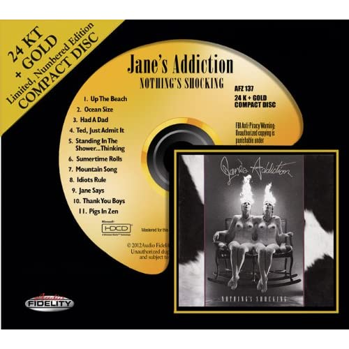 Jane's Addiction - Nothing's Shocking 24K+ Gold Compact Disc Remaster Review