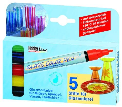 Hobby Line 42650 - Glass Color Pen 5er Set