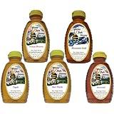 Tea Honey Sampler (Pure Natural Raw Honey) 5x16oz