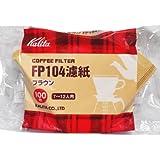 カリタ コーヒーフィルター 104濾紙 100枚入 ブラウン