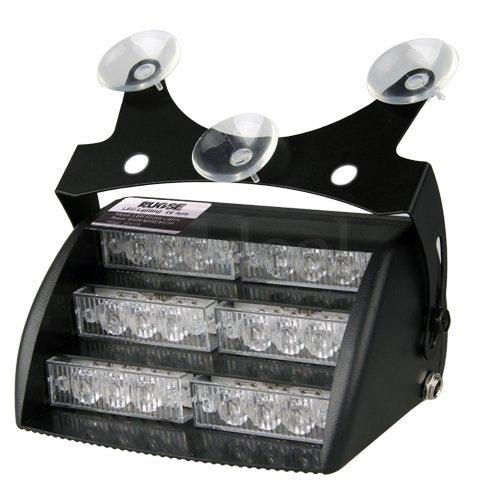 Rupse-Lampada-Luce-Strobo-Lampeggiante-Stroboscopiche-di-Emergenza-18-LED-DC-12V-3-Modelli-Selezionabili-con-3-Ventose-Staffa-Montaggio-Spina-Accendisigaro-Cablata-Viti-Accessori-per-per-Parabrezza-Cr