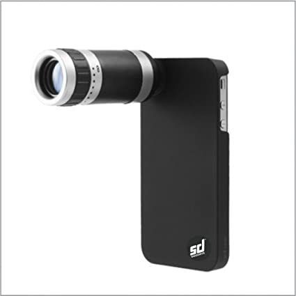 IPHONE 5 5S TELESCOPE 8X ZOOM LENS KIT WITH BACK MOBILE CASE/COVER ...