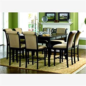 Amazon.com: Traditional Pub Style Dining Set 9 Pcs: Home amp; Kitchen