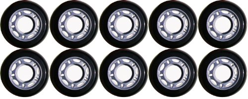 Choice Inline Wheels, Black/Silver, 80 mm x 8 (Rollerblade Wheels 80mm 82a compare prices)