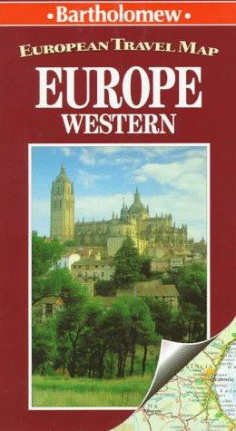 European Travel Map Europe: Western (European