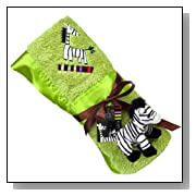 Kushies Zebra Blanket with Plush Toy