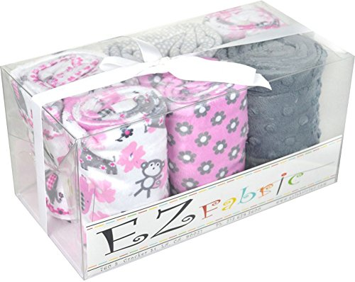 Minky Jungle Dream Fuchsia Quilt Kit EZ Fabric (Giraffe Quilt Fabric compare prices)