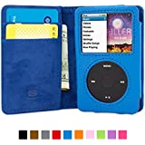 Snugg iPod Classic Case - Flip Cover & Lifetime Guarantee (Blue Leather) for Apple iPod Classic