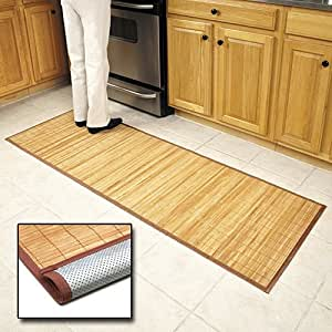 Amazon Com Bamboo Floor Mat 24 X 72 Quot Kitchen Mats