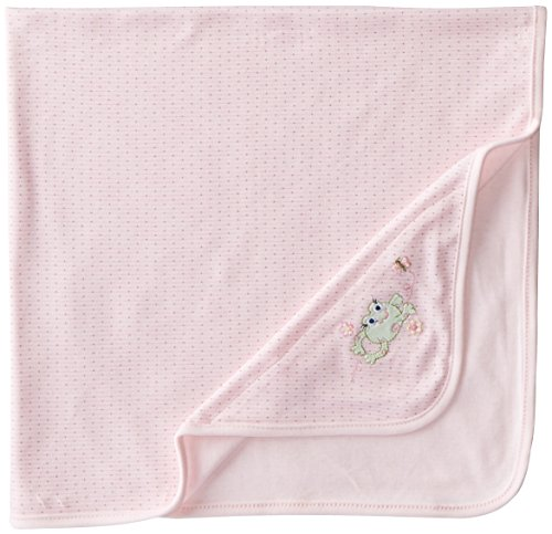 Little Me Baby-Girls Newborn Leap Frog Tag Along Blanket, Pink Print, One Size