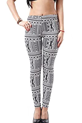 Pink Wind Ladies Silm Winter Stretch Pants Ankle Full Length Leggings Printing Tights