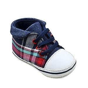 Froomer Zapato a cuadros Preandador Infantil Encaje Suave con Suele Zapato Deporte Primeros Pasos
