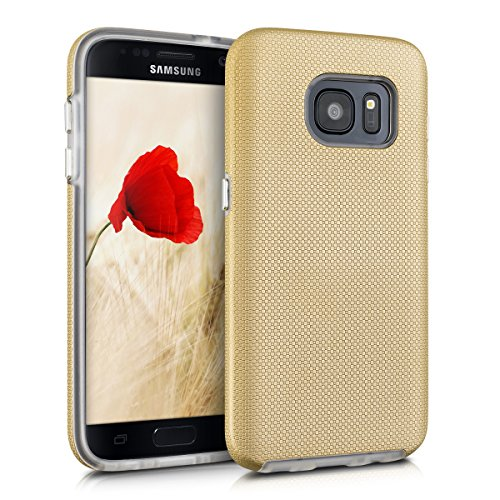 kalibri-Armor-Hlle-fr-Samsung-Galaxy-S7-TPU-Silikon-und-Kunststoff-Case-in-Champagner