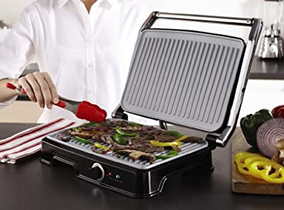 Oster CKSTPM6001-ECO Extra Large DuraCeramic Panini Maker and Indoor Grill by Jarden Consumer Solutions