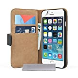 Caseflex Genuine Leather Wallet Cover Case for iPhone 6 - Black