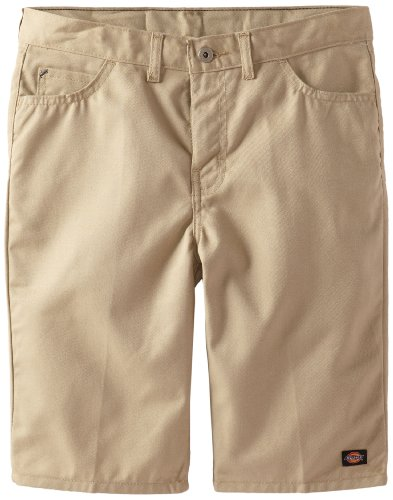 Dickies Big Boys' Uniform Slim Fit 5-Pocket Twill Short, Desert Sand, 10