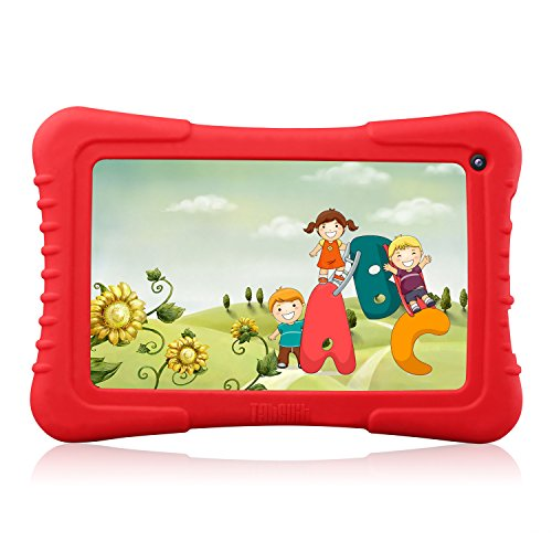 Dragon Be on an equal footing with 7-Inch. Quad Core Android Kids Tablet, IPS Display with Wifi and Camera and Games, HD Kids Edition, Zoodles Pre-Installed - Red Silicone