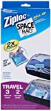 Ziploc Space Bag Compressible Vacuum-Seal Travel Roll Bags, Set of 5