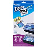 Ziploc Space Bag Compressible Vacuum-Seal Travel Roll Bags, Set of 5 ~ Space Bag