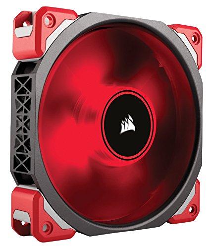 Corsair CO-9050042-WW ML Series ML120 LED 120mm Haute Pression à faible son Ventilateur Haut de Gamme à Lévitation Magnétique, Rouge