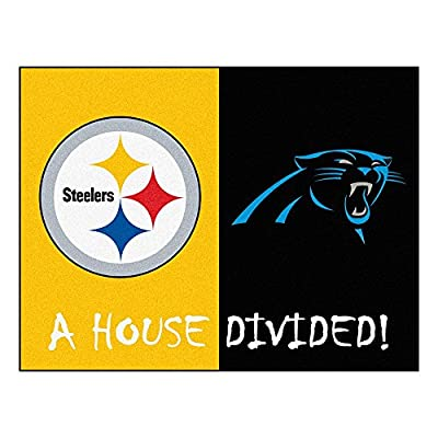 NFL - Pittsburgh Steelers/Carolina Panthers House Divided Rugs Rectangular