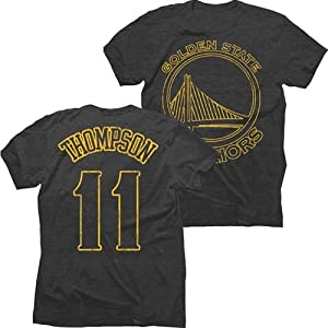 Golden State Warriors NBA Klay Thompson #11 Name & Number Pop Tri-Blend T-Shirt by Majestic Threads