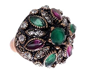 Amazon.com: Hurrem Sultan Antique Emerald Gemstone Vintage Round Cut