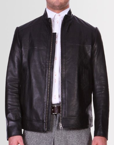 Kear and Ku Mens Black Nappa Leather Jacket : Black - M