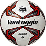 molten(モルテン) サッカーボール ヴァンタッジオ3050 5号軽量 シャンパンシルバー×レッド F5V3050-LR