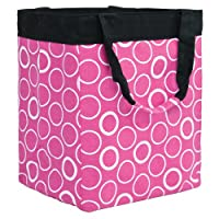 Storage Tote - Deep Pink Rings