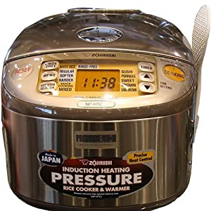 Zojirushi NP-HTC18 Induction Heating 10-Cup Pressure Rice Cooker and Warmer