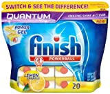 Finish Quantum Lemon Sparkle 4 x Pack of 20 (80 Dishwasher Tablets)