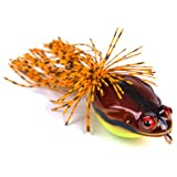 Hisea Frog Popper Floating Surface Topwater Lures Plastic Hard Crankbaits Fishing Hook Tackle 50mm 11.5g (approx. 2 inches, 2/5 oz)