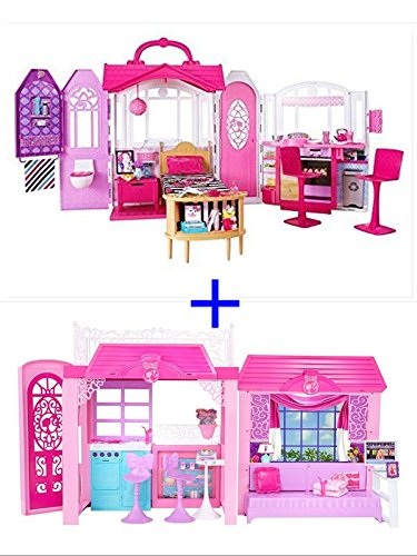 [2 in 1 Barbie Glam Vacation House and Barbie Glam Getaway House] (Malibu Barbie Costume)
