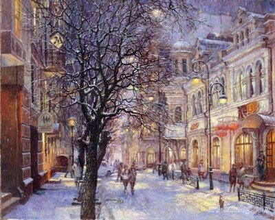 Snow Scenery--New DIY Digital Oil Painting Paint By Number Kit Wall decoration 16*20 Inch