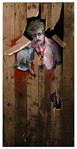 Photo-Realistic Zombie Door Cover