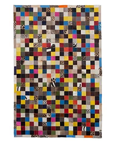 ecarpetgallery Handmade Cowhide Patch Rug, Multi, 6' x 9'