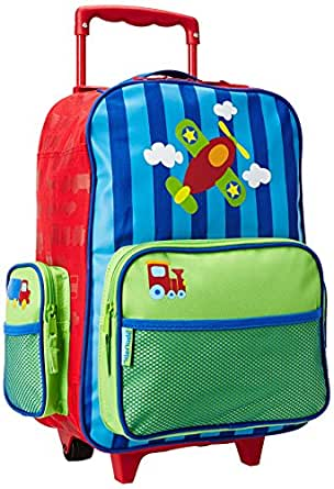 Stephen Joseph Little Boys' Rolling Luggage, Airplane, One Size