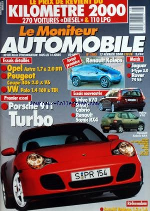 moniteur-automobile-le-no-1205-du-17-02-2000-essais-opel-astra-peugeot-coupe-vw-polo-renault-koleos-