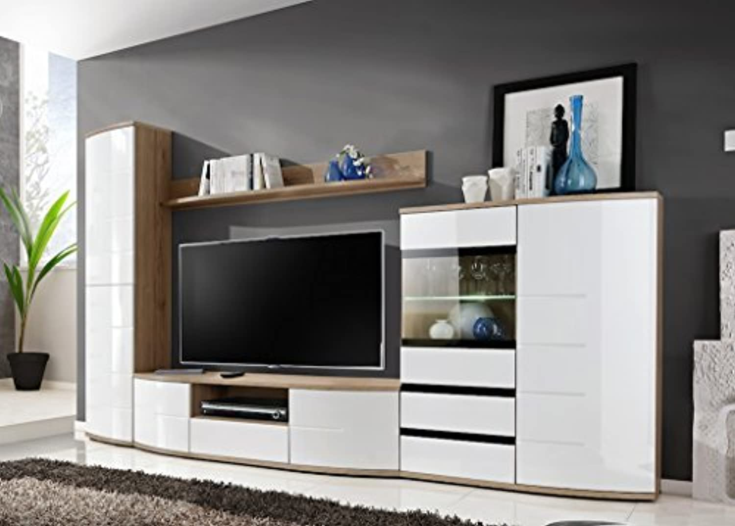 Just Released Bmf Toronto Modern Living Room Wall Unit Chest Of Drawers Tv Stand Cabinets