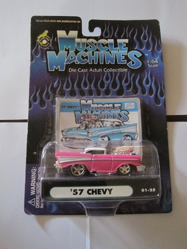 Muscle Machines Die Cast Adult Collectible '57 Chevy 01-25 1:64 Scale by Funline - 1