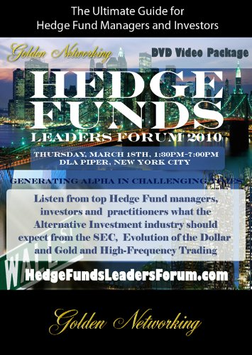 Hedge Funds Leaders Forum 2010 DVD Video Package
