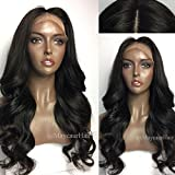 Vanessa Queen Body Wave Wig With Bangs 180 Density Long Wave Synthetic Lace Front Wig For Black Women (Color: style1, Tamaño: 24 Inch)