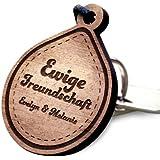 schenkYOU® TROPFEN Schlüsselanhänger mit Gravur aus Holz - Ihr eigener Wunschtext - Puzzle, Herz, Yin & Yan uvm.