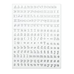 Martha Stewart Crafts Stamp, Serif Font