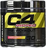 Cellucor C4 Ripped Pre Workout Thermogenic Fat Burning Powder, Cherry Limeade, 30 Count